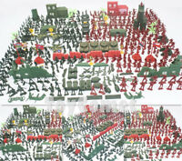 330 pcs Military Playset Plastic Toy Soldiers Army Men 4cm Figures & Accessories