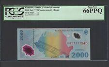 Romania 2000 Lei 1999 P111a Commemorative Issue Uncirculated Graded 66