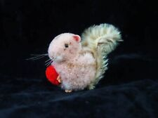 OLDER STEIFF MOHAIR 3 INCH MINI SQUIRREL WITH RED CHESTNUT EXCELLENT CONDITION