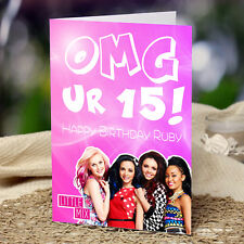 EXTRA LARGE Little Mix **Personalised A4 Birthday Card** Daughter Sister Niece