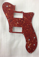 Fits 72 Tele Deluxe Reissue Guitar Pickguard PAF Humbucker, 4Ply Red Tortoise