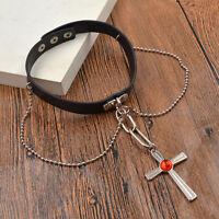 Anime Rosario Vampire Cross Chain Collar Necklace Choker Womens Jewellery Charm