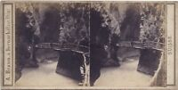 Trient Vallese Suisse Stereo A. Braun Stereoview Vintage Albumina Ca 1865