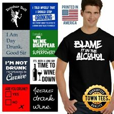 Drinking Tee Shirt Wino T-Shirt Mens Alcoholic TShirts Bar T Shirt For Women