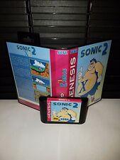 Sonic the Hedgehog Sonic 2 XL Game for Sega Genesis! Cart & Box