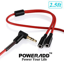 3.5mm Stereo Audio Headphone Male To 2 Female Y Splitter Cable Adapter Plug Jack