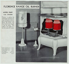 RARE  Florence  OIL BURNER Stoves  Ranges Ovens ca 1930s CATALOG