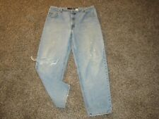 VINTAGE MENS LEVI'S 520 LOOSE FIT TAPERED LEG JEANS 42x32 signature reserve USA