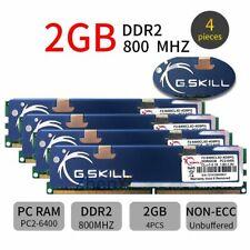 8GB 4x 2GB DDR2 PC2-6400U 800MHz 1.8V CL5 Desktop Memory PC DIMM RAM For GSKILL