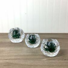 Kosta Boda snowball votive candleholders set of 3 - two sizes - vintage glass