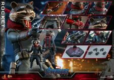 "Hot Toys MMS548 1/6 ""Avengers 4 The Final Battle"" Rocket Raccoon Figure Toy Gift"