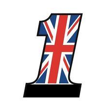 Stickers anglais NUMBER ONE UNION JACK Triumph Daytona Street Speed - 12cm
