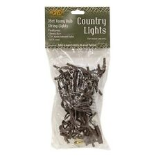 Country Farmhouse Teeny Rice  White String Lights 35 Brown Cord **BACK IN STOCK!