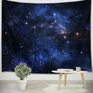 Dreamy Beautiful Night Starry Sky Tapestry Wall Hanging Blanket Bedroom Decor