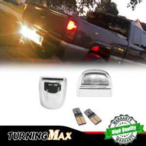 Bright Amber LED License Plate Lamp Bulbs w/Housing Kits For Chevrolet Silverado