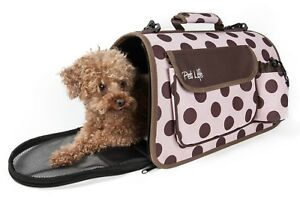 Airline Approved Folding Collapsible Zippered Casual Travel Pet Dog Carrier bag