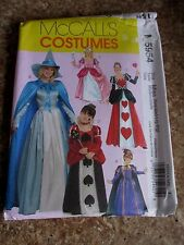 McCall's M5954 MISSES Sleeping Beauty Good Fairy Queen of Hearts Size S- XL UC