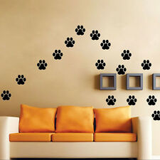 Trendy 22 Walking Paw Prints Home Wall Decal Art Dog/Cat Food Dish Room Sticker