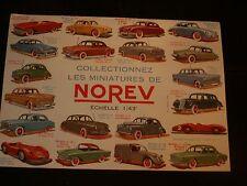 norev petite voiture miniature 1/43e buvard grand modèle état neuf 18 X 24