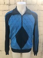 Men's Adidas Track Top Size M Casual Retro Jacket Blue