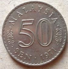 Parliament Series 50 sen coin 1971