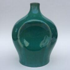 1920s Muncie Pottery Reuben Rombic Geometric Green Glaze Vase Mid Century Modern