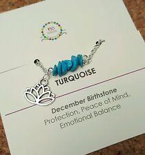 Minimalist Turquoise Gemstone anklet Yoga  Jewellery December Birthstone