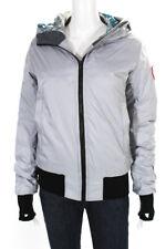 Canada Goose Womens Long Sleeve Hooded Puffer Jacket Gray Size Medium