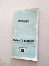 1978 Chevrolet Malibu Owner's Manual