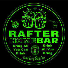 4x ccq36488-g RAFTER Home Bar Ale Beer Mug 3D Engraved Drink Coasters