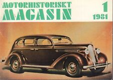 Motorhistoriskt Magasin Swedish Car Magazine 1 1981 Ford Zephyr 040317nonDBE