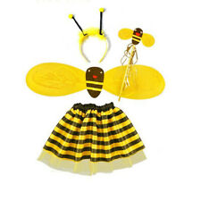 Honey Bee Kids Girl Dress Costume Set Fancy Halloween Party Outfit Children Wear