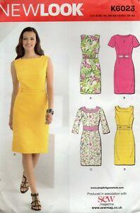 Simplicity Sewing Pattern 6023 Slim Princess Seam Dresses, Wide Waist Size 6-14