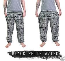 Mens Thai Yoga Pants / Baggy Harem Trousers - Elephant Unisex Drawstring Hippy
