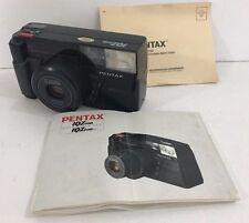 Pentax IQZoom 35mm Point & Shoot Film Camera AF Tele-Macro w/Manuel
