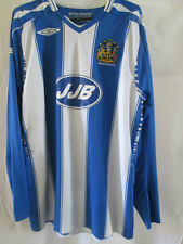 Wigan Athletic 2007-2008 Home Football Shirt Tamaño Grande Ls / 8514