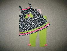 "NEW ""LIME GIRAFFE"" Capri Pants Girls Clothes 4 Spring Summer Boutique Kids"