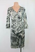 Diane von Furstenberg DVF Julian Two Black White Print Silk Wrap Dress sz 8