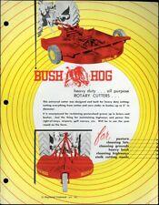 Vintage BUSH-HOG HEAVY DUTY ROTARY CUTTERS Spec Sheet   Heavy Brush Highways