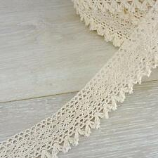 Buddly Crafts 38mm cotone uncinetto pizzo con nappe - 1M naturale #ccl 2