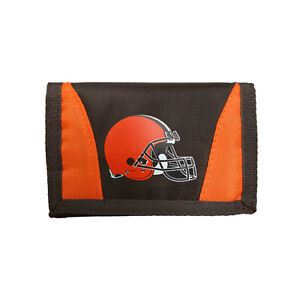 Cleveland Browns Football League Licensed Nylon Tri-Fold Chamber Wallet