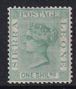 Sierra Leone 1876 1s Green SG22  Mtd Mint
