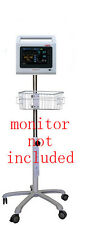 Rolling mobile stand for Zoe CasMed 740 select vital sign monitor (small wheel)