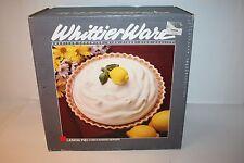"Vintage Whittier Ware Lemon Pie 9"" Baker/Server Plate EUC"