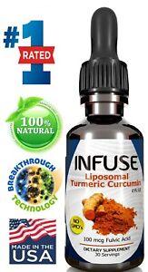 INFUSE - Liposomal Turmeric Curcumin Liquid | One Bottle | Std 95% Curcumin