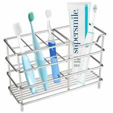 Premium 7 Slots Stainless Steel Bathroom Toothbrush Holder Organizer Razor Stand
