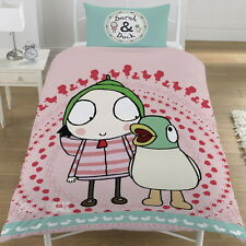 Sarah and Duck Noisy Duck Single Duvet Cover Bed Set Gift Official CBeebies