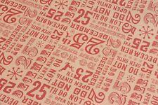 Lot de 3 rouleaux de noël papier cadeau-différents designs-kraft papier style