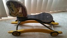 RIDING TOY HORSE VINTAGE ANTIQUE WOODEN RIDE ON