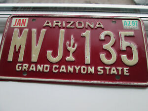 VINTAGE AMERICAN LICENSE PLATE FROM ARIZONA